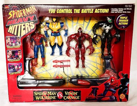 Spider-Man Heavy Hitters Spider-Man And  Wolverine Vs Venom And Carnage