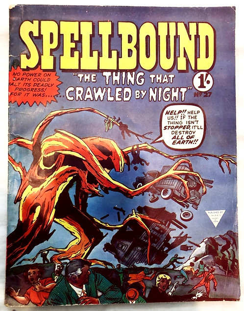 Spellbound The Thing That Crawled By Night #27 1962