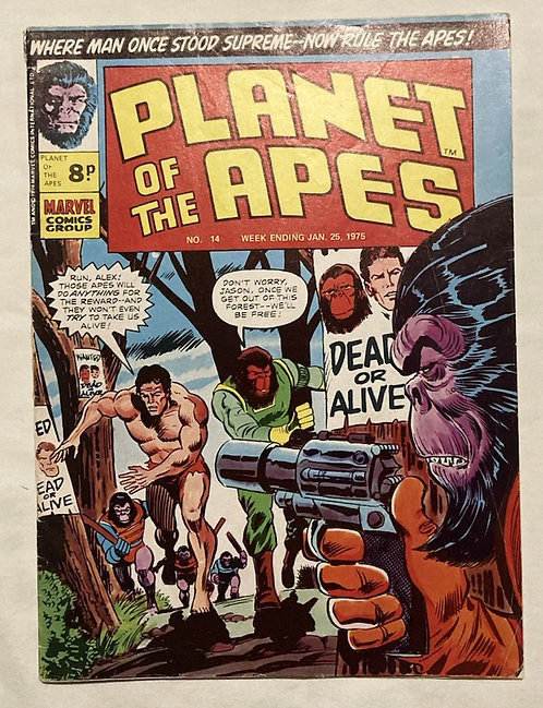 Marvel Comics Planet Of The Apes #14 Jan 1975