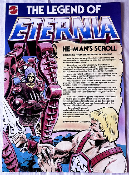 He-Man And The Masters Of The Universe Club The Legend Of Eternia 1986