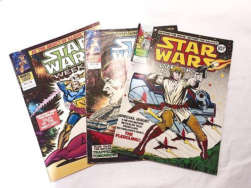 Vintage Star Wars Comics Set x 3 (UK)
