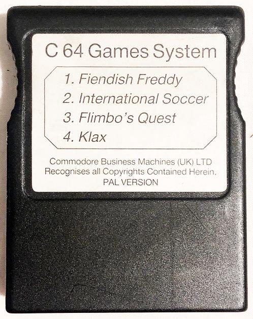 Fiendish Freddy Int Scocer Flimbo's Quest Klax Commodore 64