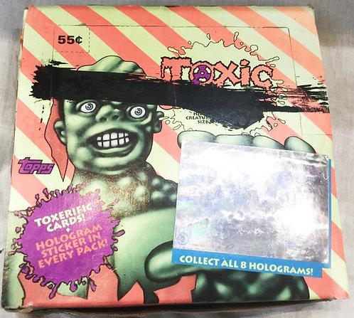 Toxic Crusaders Trade Card Display Box (Hologram Version) And Cards Topps 1991