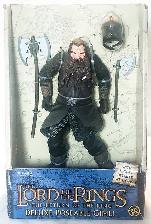 The Lord Of The Rings Return Of The King Gimli Figure 28cm Posable Toy Biz