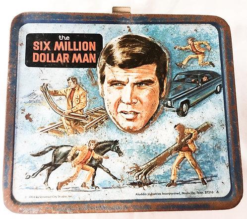 The Six Million Dollar Man Metal Lunch Box Aladdin 1974
