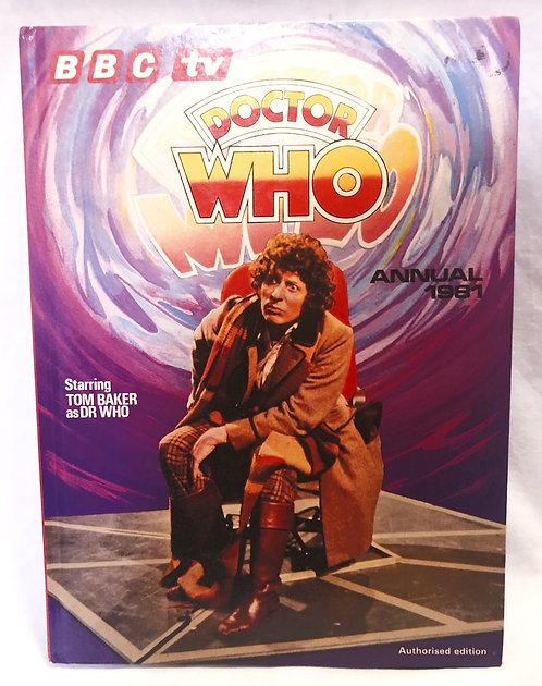 Doctor Who Annual Tom Baker 1981