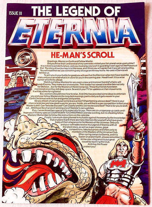He-Man And The Masters Of The Universe Club The Legend Of Eternia No 3. 1985