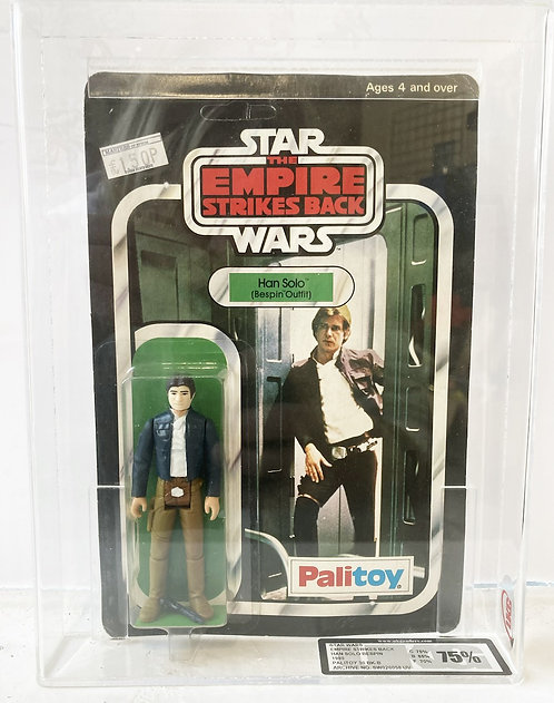 Star Wars Empire Strikes Back Han Bespin Debut 30B Back UKG 75 Palitoy 1980