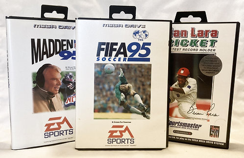 Sega Mega Drive Sports Bundle Madden 95 Brain Lara Cricket Fifa 95