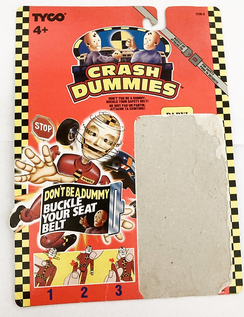 Crash Dummies Daryl Backing Card Tyco 1991
