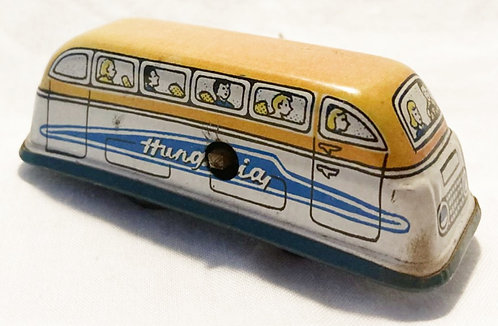 B. Shackman & Co NY Tin Windup Bus Hungary