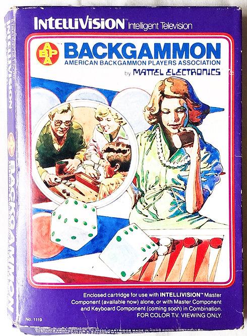 Backgammon Intellivision Intelligent Television U.K. (PAL)