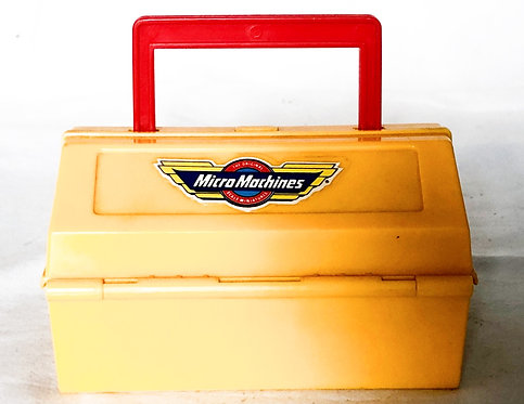 Micro Machines Yellow Toolbox Pit Kit Custom Car Build Playset And Vehicals