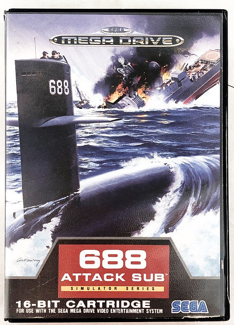 688 Attack Sub Sega Megadrive U.K. (PAL)