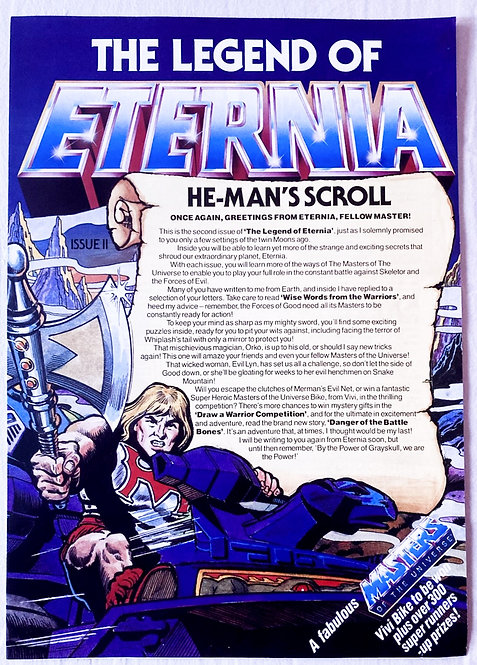 He-Man And The Masters Of The Universe Club The Legend Of Eternia No 2. 1985