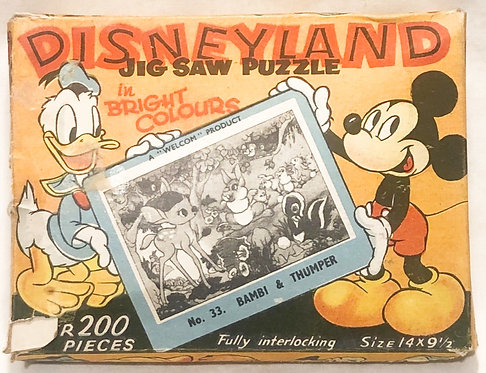 Disney Land Jigsaw Puzzle In Bright Colours No 33 Welcom 1955