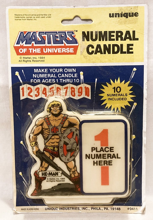 He-Man And The Masters Of The Universe Numeral Candle U.S.A. Unique 1984