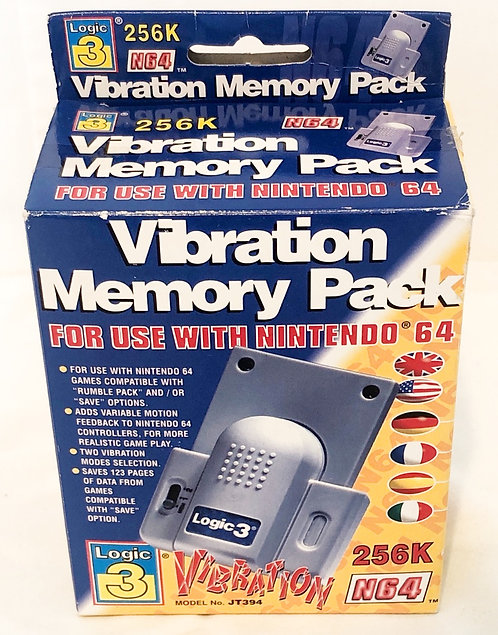 Nintendo 64 Vibratin Memory Pack Logic 3