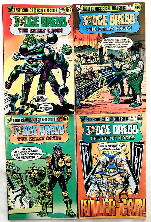 Judge Dredd The Early Cases Comic Set #2 #4 #5 1986