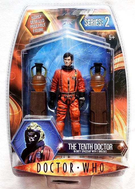 Doctor Who The Tenth Doctor In Dirty Spacesuit with 2 Obelisks