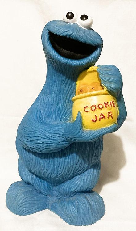 "Vintage Cookie Monster Money Box 12"" Illco Toys"