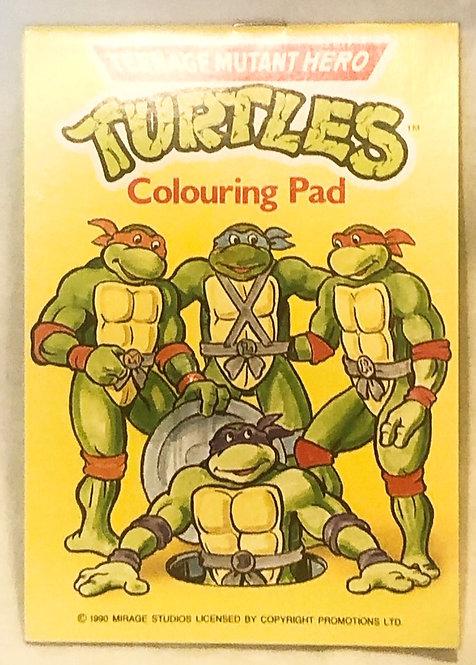 Teenage Mutant Hero Turtles Mini Colouring Pad 1988