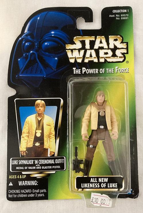 Star Wars The Power Force Luke Ceremony Japan Card Back Kenner 1997