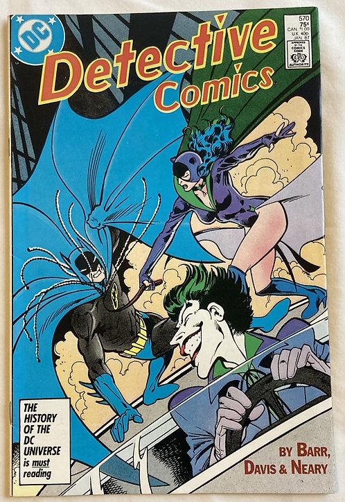DC Detective Comics No 570 January 1987