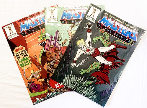 He-Man And The Masters Of The Universe Comic Set No. 59 60 61 1988