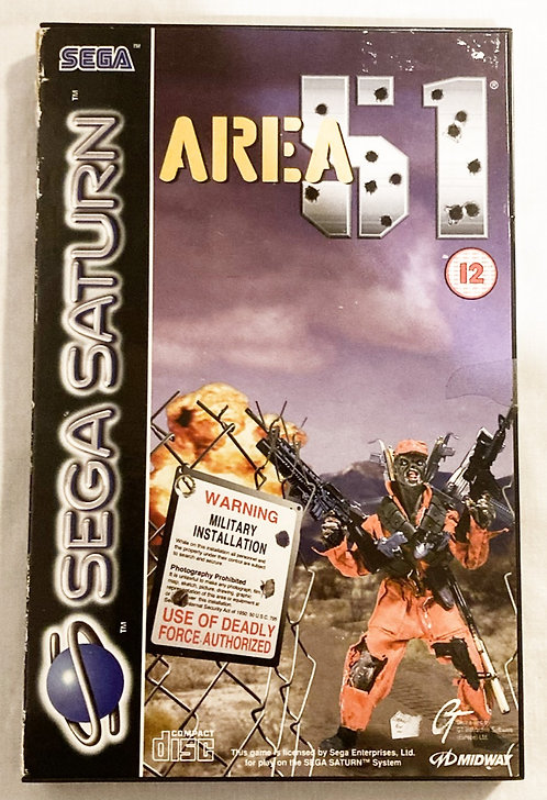 Sega Saturn Area 51 (PAL) U.K. 1995