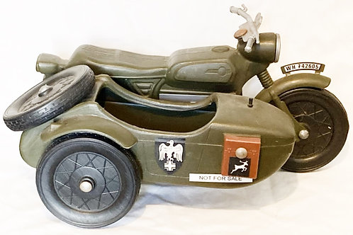 Vintage Action Man Cherilea German Army Motorcycle and Sidecar