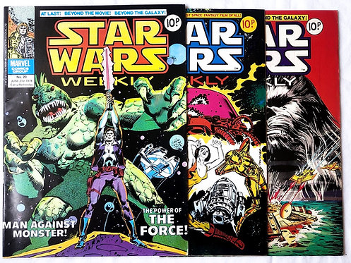 Vintage Star Wars Comic Set Marvel U.K. 1978