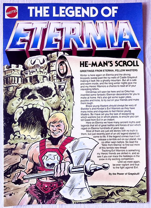 He-Man And The Masters Of The Universe Club The Legend Of Eternia 1985