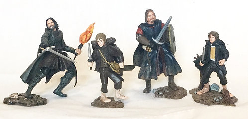 Lord of the Rings Aragorn (Strider) Boromir Merry Pippin Mini Figures Set