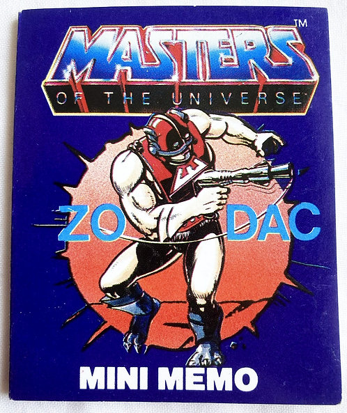 He-Man And The Masters Of The Universe Fan Club Zodac Mini Memo 7cm 1984