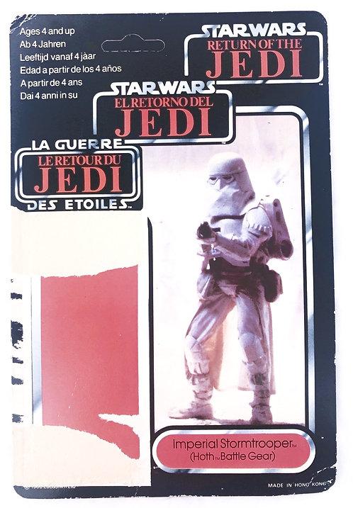 Vintage Star Wars ROTJ Tri-Logo Imperial Stormtrooper Backing Card