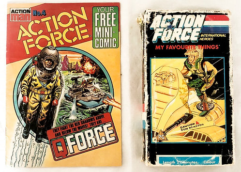 Action Force VHS And Comic Set