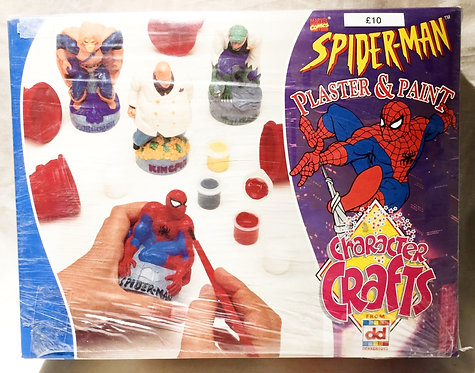 Spider-Man Plaster And Paint Character Crafts Dekker Toys 1998