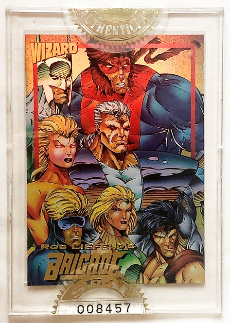 Wizard Magazine Limited Edition Sealed Gold Promo Card Brigade 1993