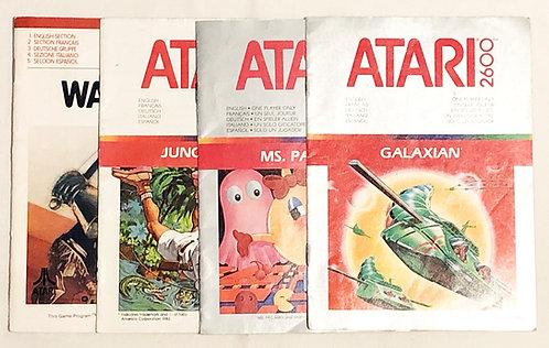 Atari 2600 Instructions Warlords Jungle Hunt Ms. Pac-Man Galaxian