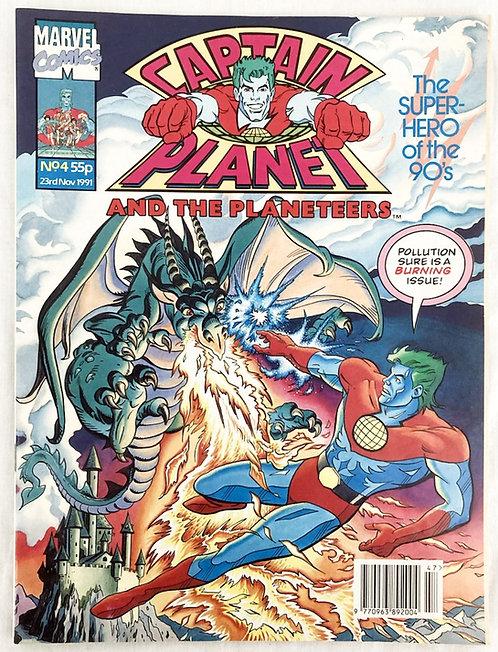 Captain Planet No 4 Marvel U.K. November 1991