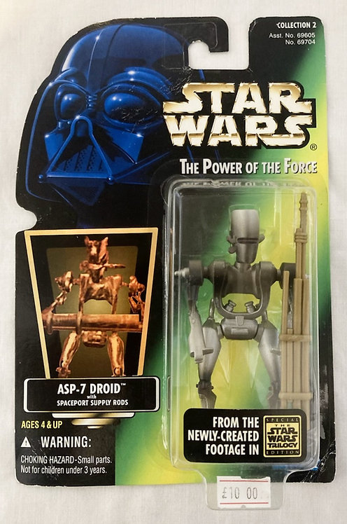 Star Wars The Power Force ASP-7 Droid Kenner 1995