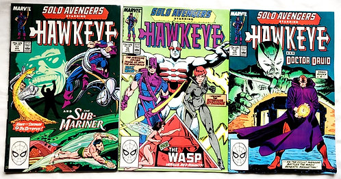 Marvel Solo Avengers Hawkeye Comic Set #10 #15 #17 1988