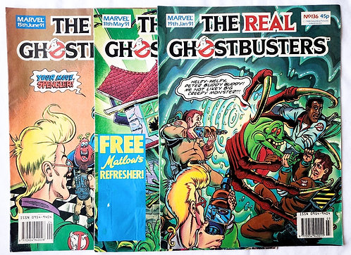 The Real Ghostbusters Comic Set Marvel U.K. 1991
