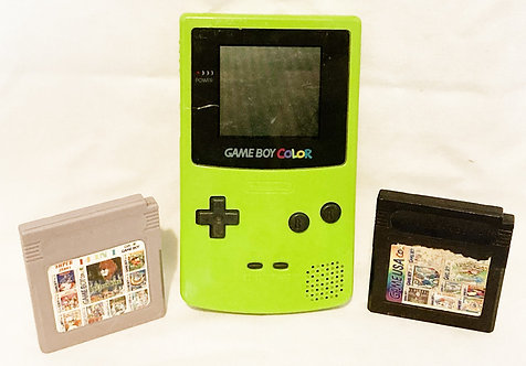 Nintendo Gameboy Colour Green With 2 Multi Games (PAL)