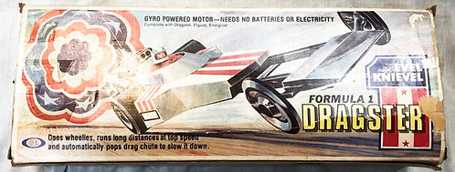 Evel Knieval Formula 1 Dragster and Figure Ideal 1974