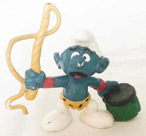 The Smurfs Whip And Drum Smurf Peyo 1979