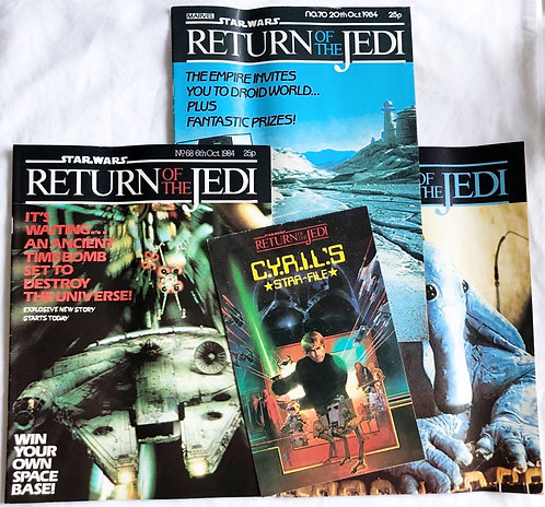 Vintage Star Wars Return Of The Jedi Comic Set 1983
