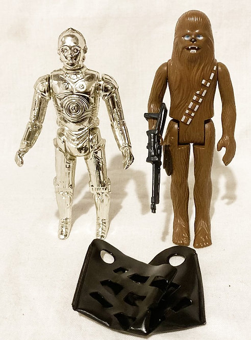 Vintage Star Wars Removable Libs CP30, Chewbacca and Back Pack Kenner 1980