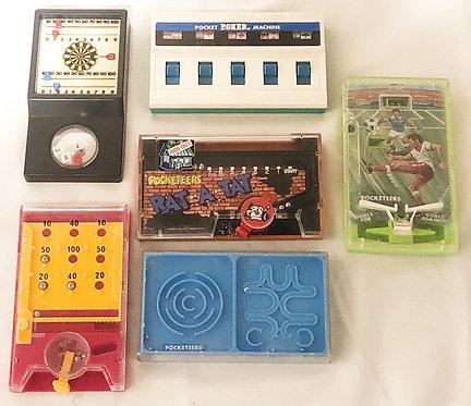 Pocketeers Retro Handheld Game Set Tomy Palitoy (B)